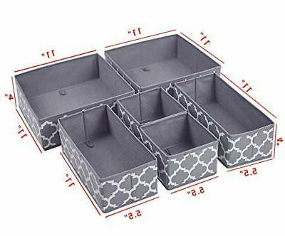 homyfort Clothes Drawer Organizer Dividers,Foldable Box