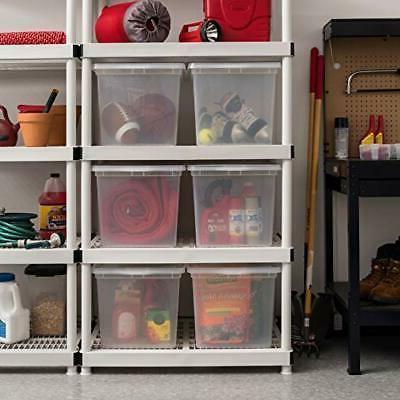 IRIS Inc. CNL-68 Clear Storage 6 Pack, 68 68 Quart