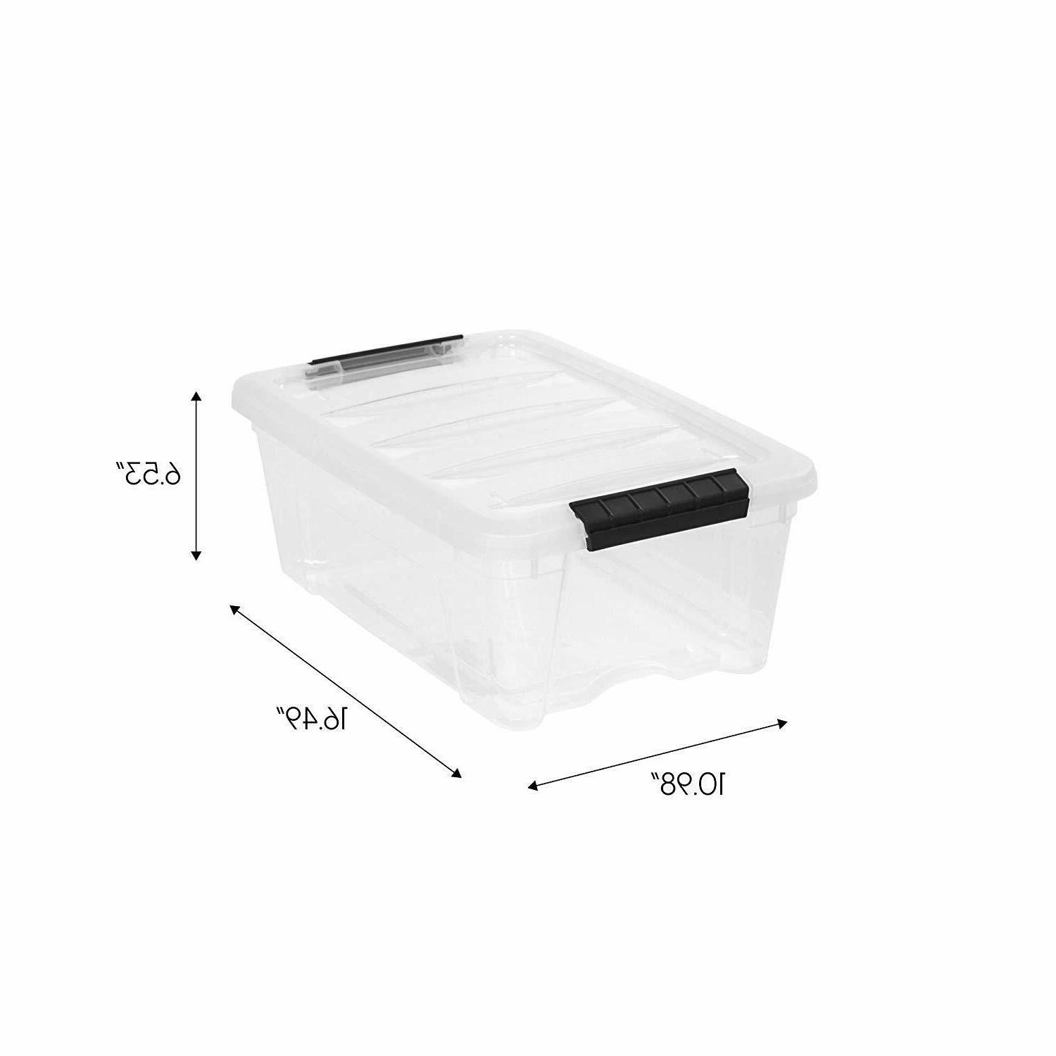 Plastic Storage Clear Stackable 6 Lid