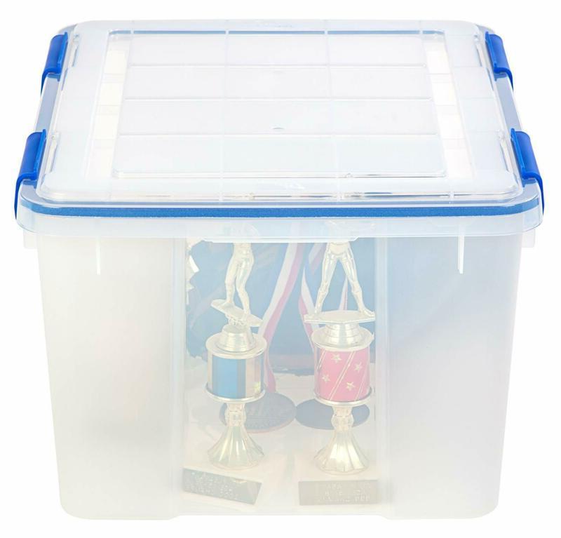 IRIS Inc. WeatherShield Storage Quart, Clear, 3