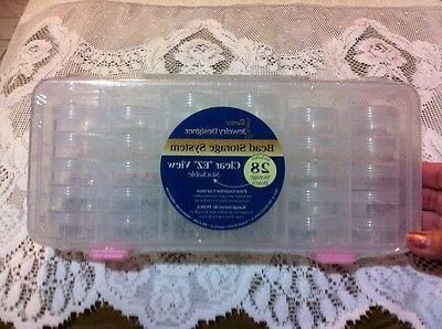 ❤️Darice Jewelry Bead Button Sewing Organizer System 28