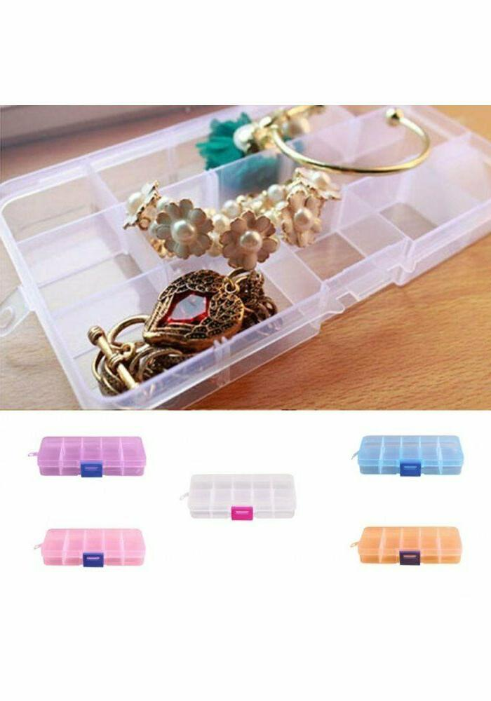 Jewelry Beads Nail Art Tips Adjustable Box 10 Grids