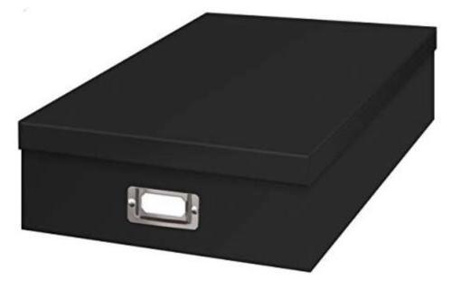 jumbo scrapbook storage box in black 14