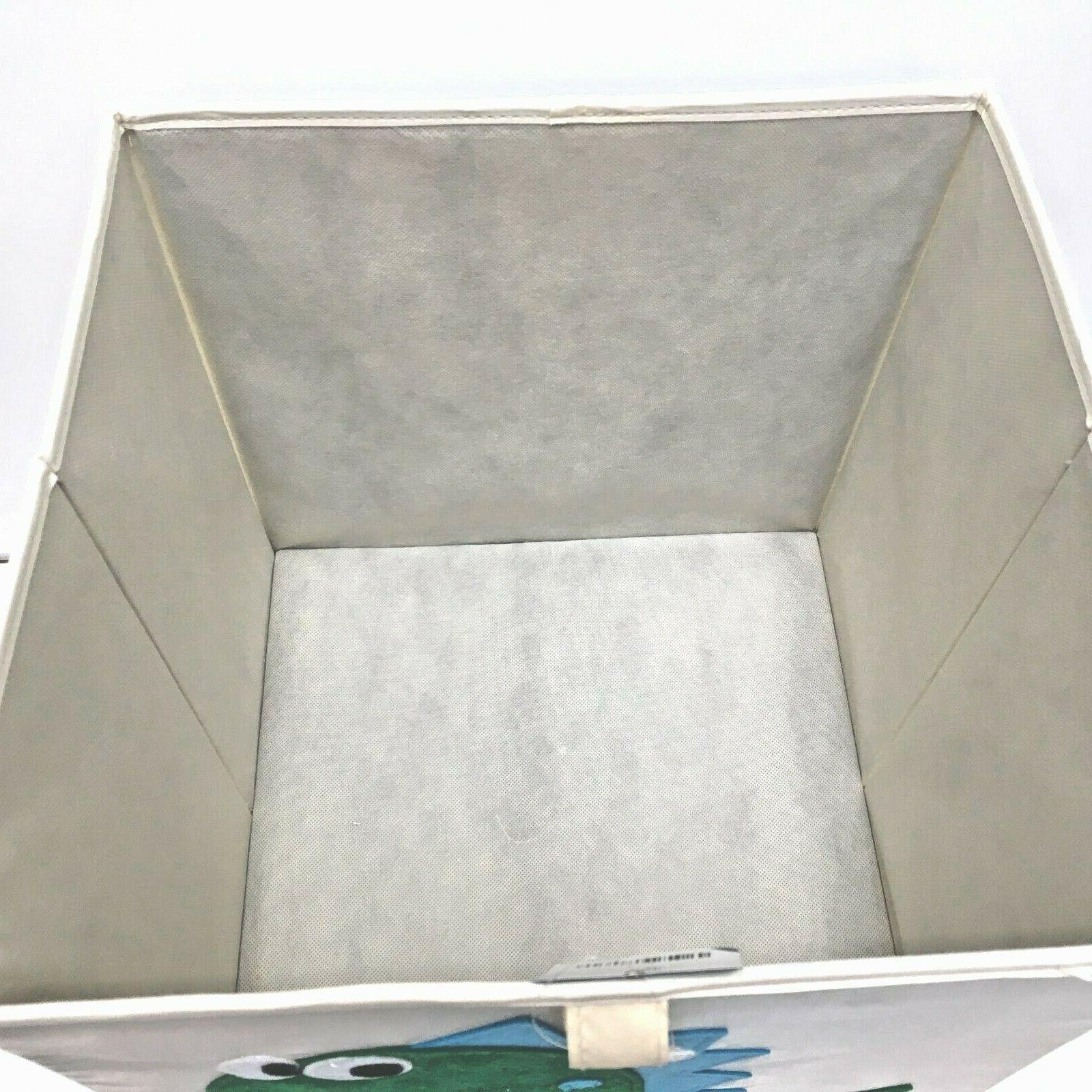 Kids Canvas Sq Storage Toy w/Attached Lid Decor