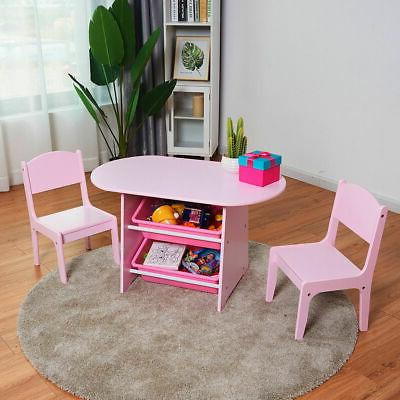 kids table and 2 chairs set