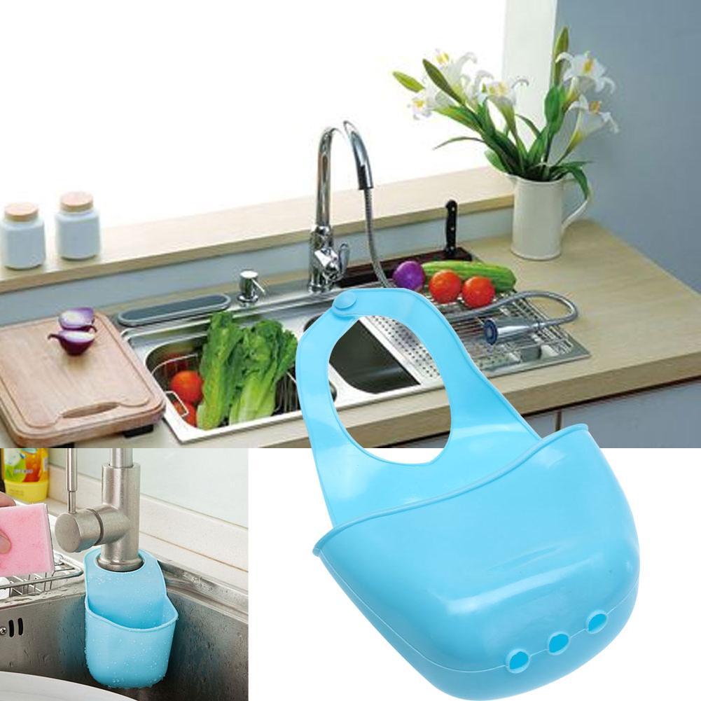 Kitchen Bathroom Container faucet soft gadget sponge soap <font><b>shelf</b></font> drain