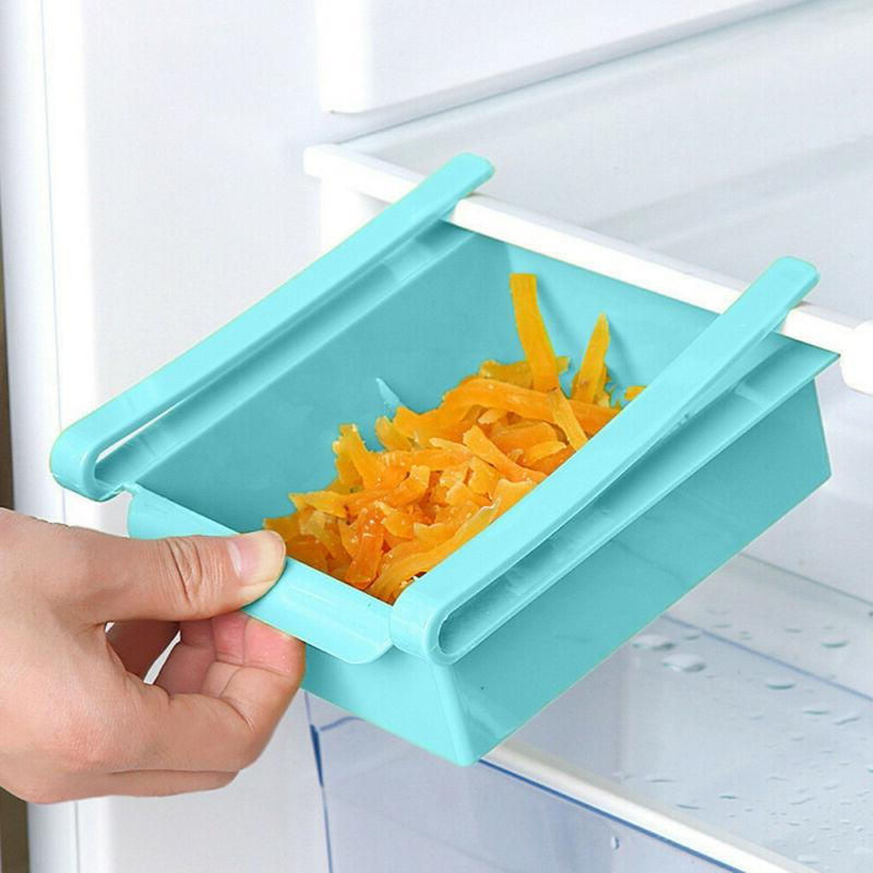 Mini Fridge Slide Drawer Freezer Storage Rack Kitchen