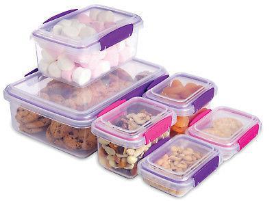 Sistema Klip Set of 6 Plastic Storage Containers Purple
