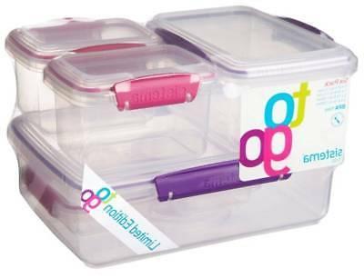 klip it set of 6 plastic food