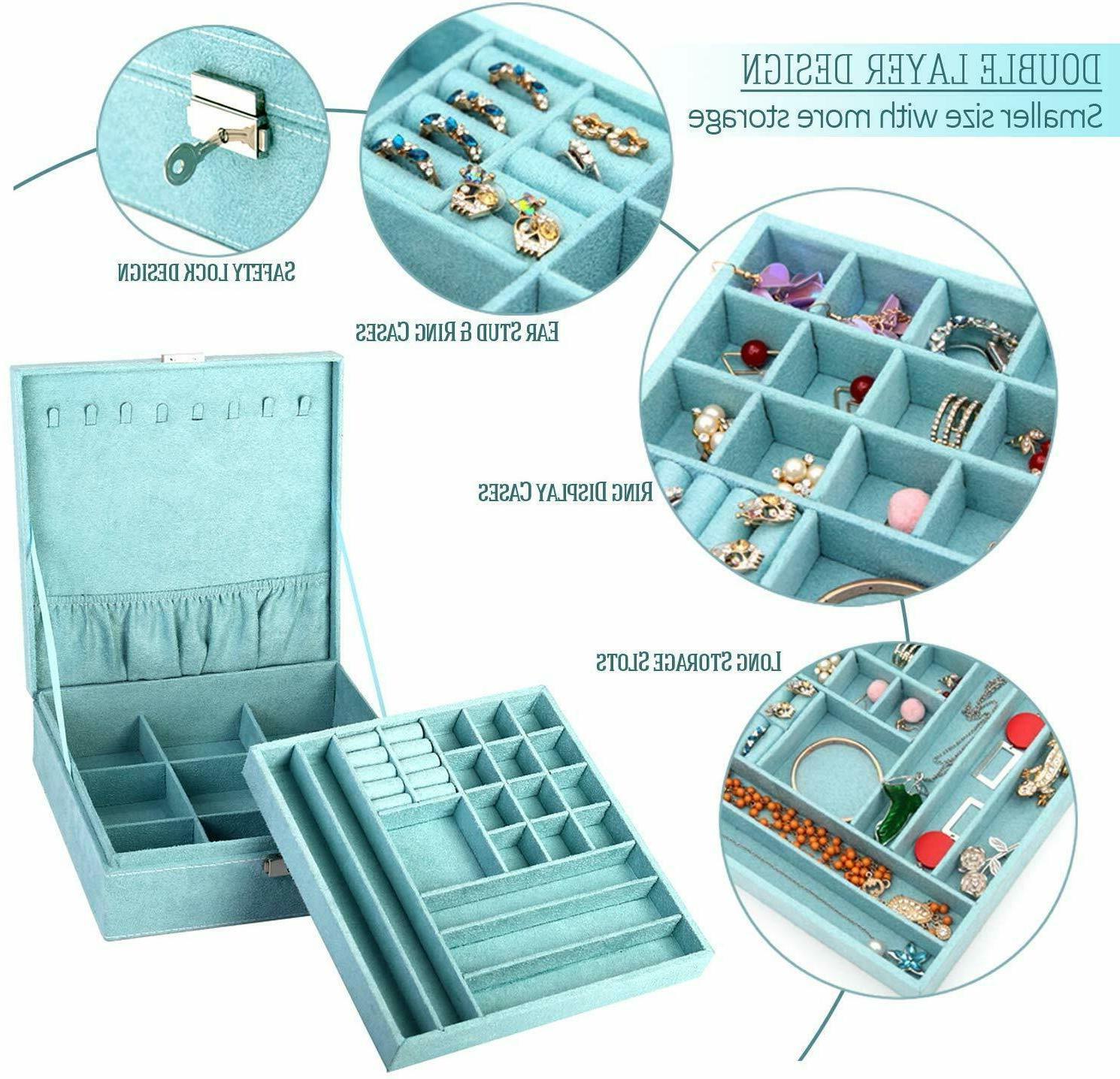 KLOUD City Two-Layer lint Jewelry Organizer Storage with Lock