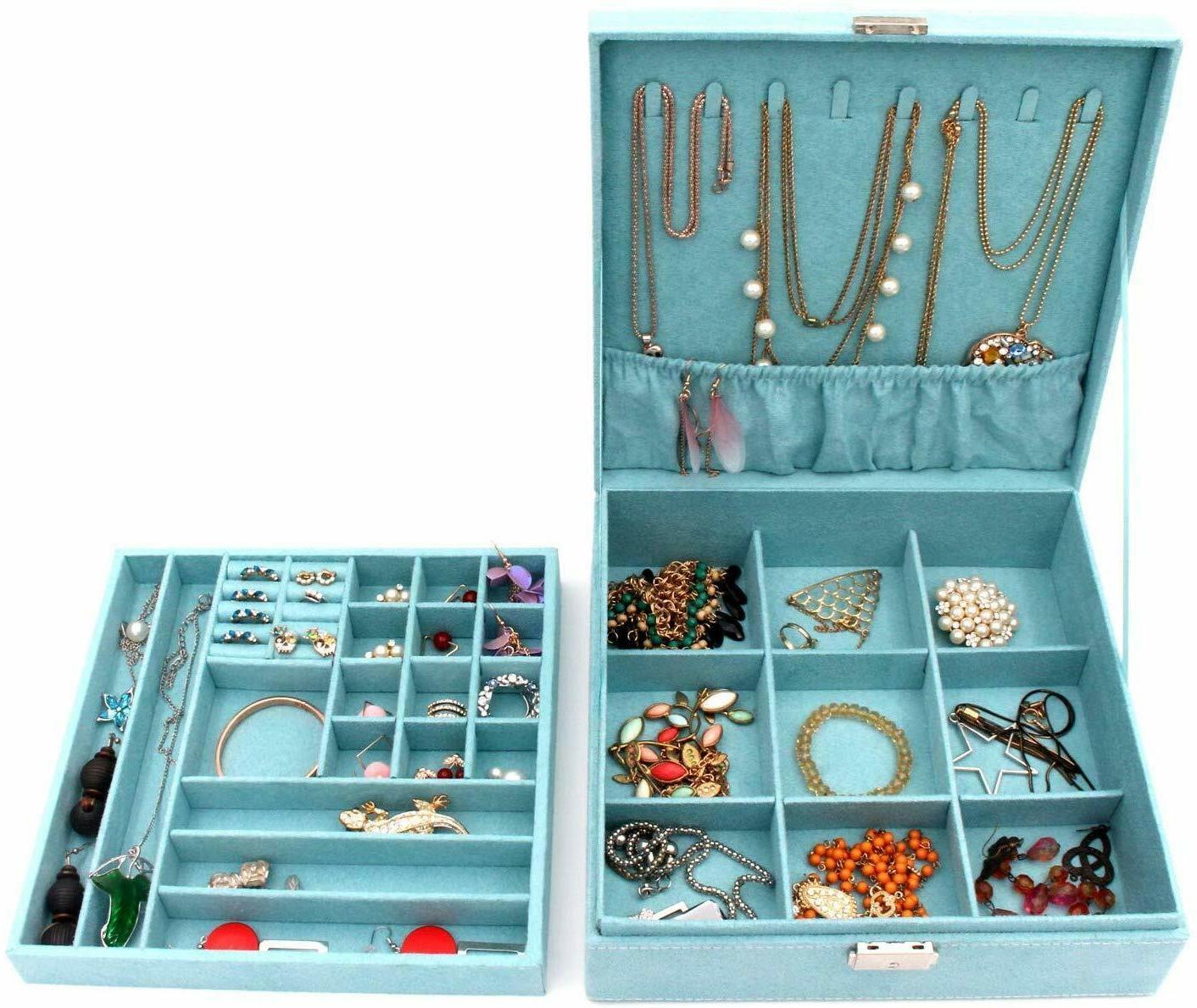 KLOUD City Two-Layer Jewelry Box Organizer Display Storage