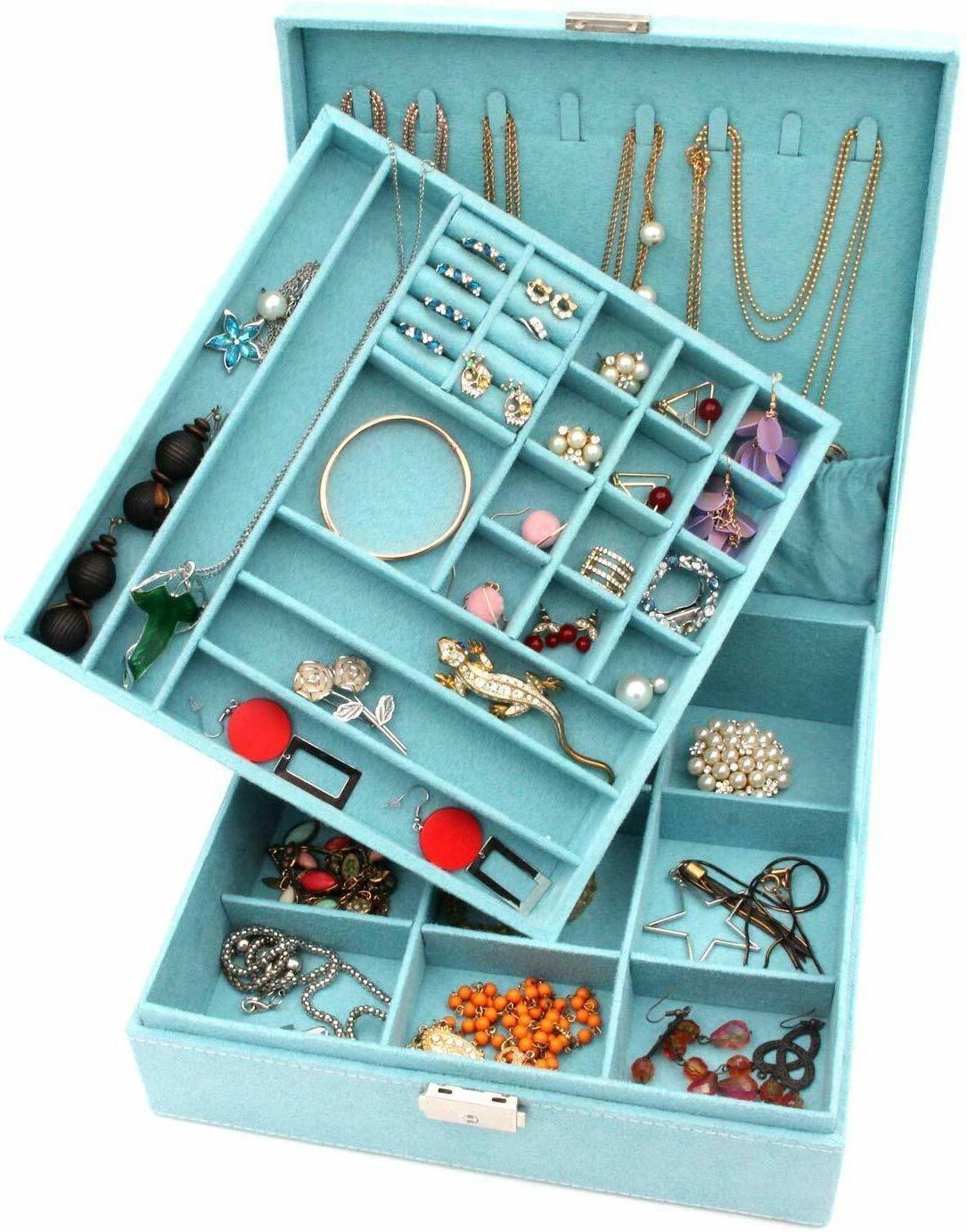 KLOUD Jewelry Organizer Display Storage case with