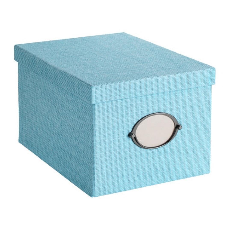 IKEA Kvarnvik Storage Box with Lid Blue 903.970.63