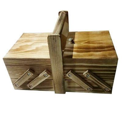 large Wooden Box Storage With Handle Boxes Home Wood Chest