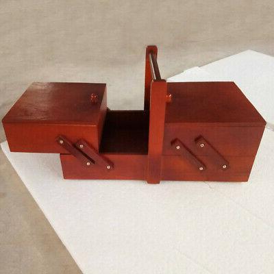 large capacity sewing wooden box storage