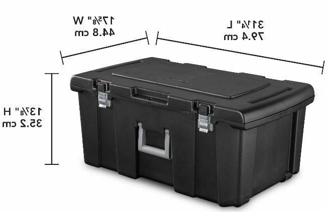 LARGE PLASTIC STORAGE Container Wheeled 16 Gal