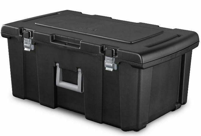 large plastic storage box container wheeled tote