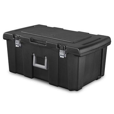 large plastic storage box containers wheeled gear