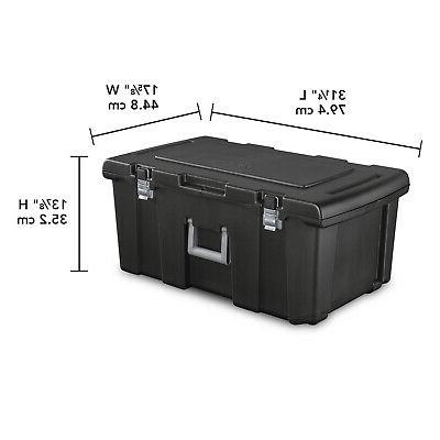 Large Plastic Storage Box Wheeled Container Gear Portable