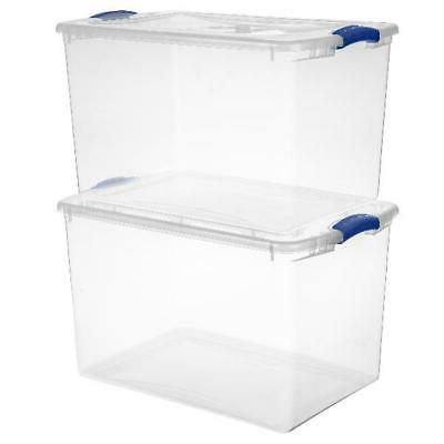 6 Large Clear Containers Organizer
