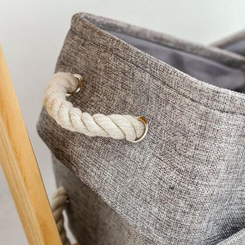 Linen Toy Boxes Laundry with Handles