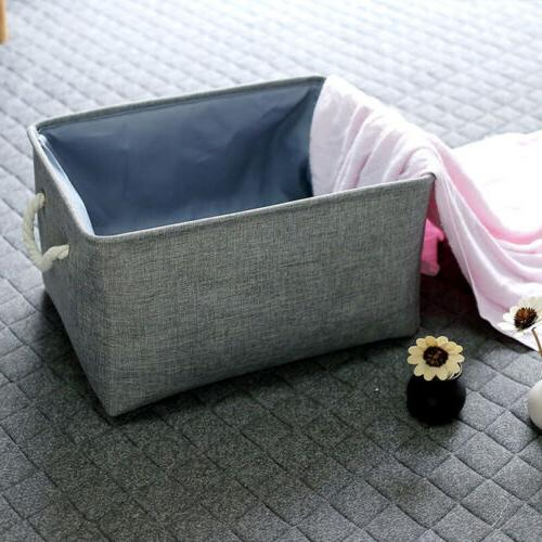 Linen Storage Toy Boxes with Handles