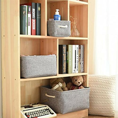 Linen Baskets Bins Toy Organizer with Handles for Shelves
