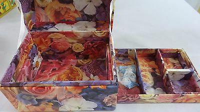 Lot of Decorative Storage Gift Boxes: Hexagon, Heart, Box