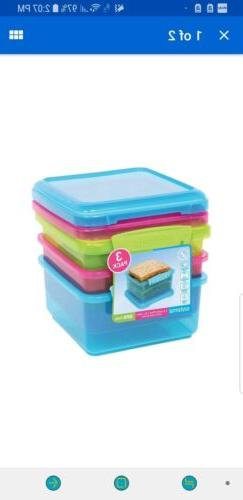 Sistema Lunch box Collection Food Storage Containers ast Col