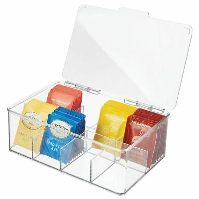 mDesign Stackable Tea Bag Organizer Storage Bin Box for Kitc