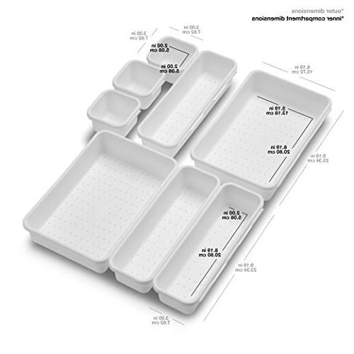 madesmart Value Bin Pack   Customizable Storage Durable Clean