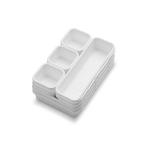 madesmart 8-Piece Bin Pack -   Customizable Multi-Purpose Storage   Durable   Easy to Clean  