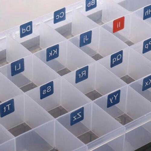 Magnetic Letter Clear Plastic Storage Jewelry Beads Case