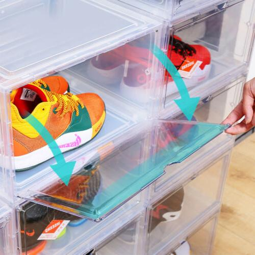 Magnetic Shoe Drop Side/Front Stackable Container L/XL