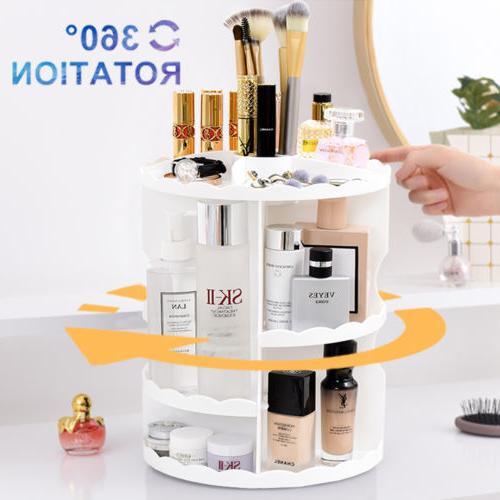 Makeup 360 Degree Rotating Storage Box White