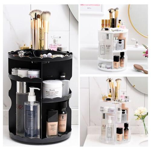 makeup shelf cosmetic rack holder 360 degree