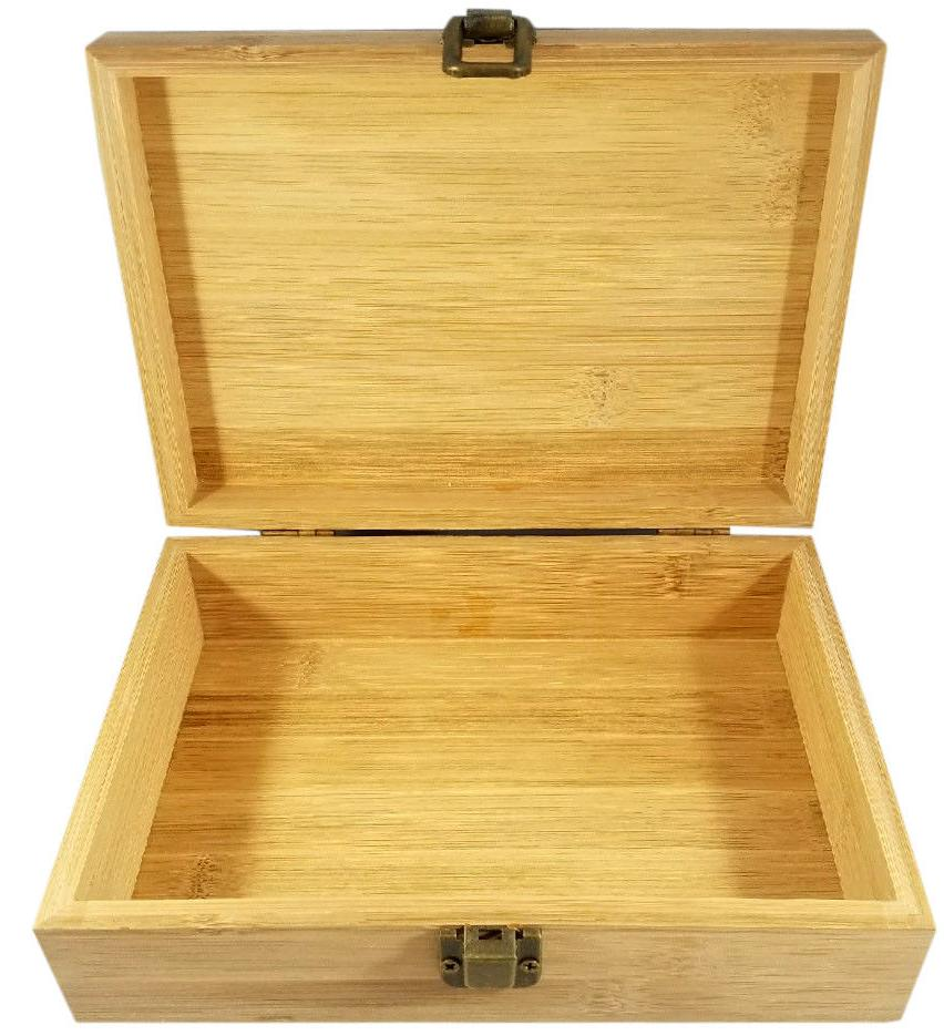 Marijuana Decorative Bamboo Wood Storage Stash Box Great Gift