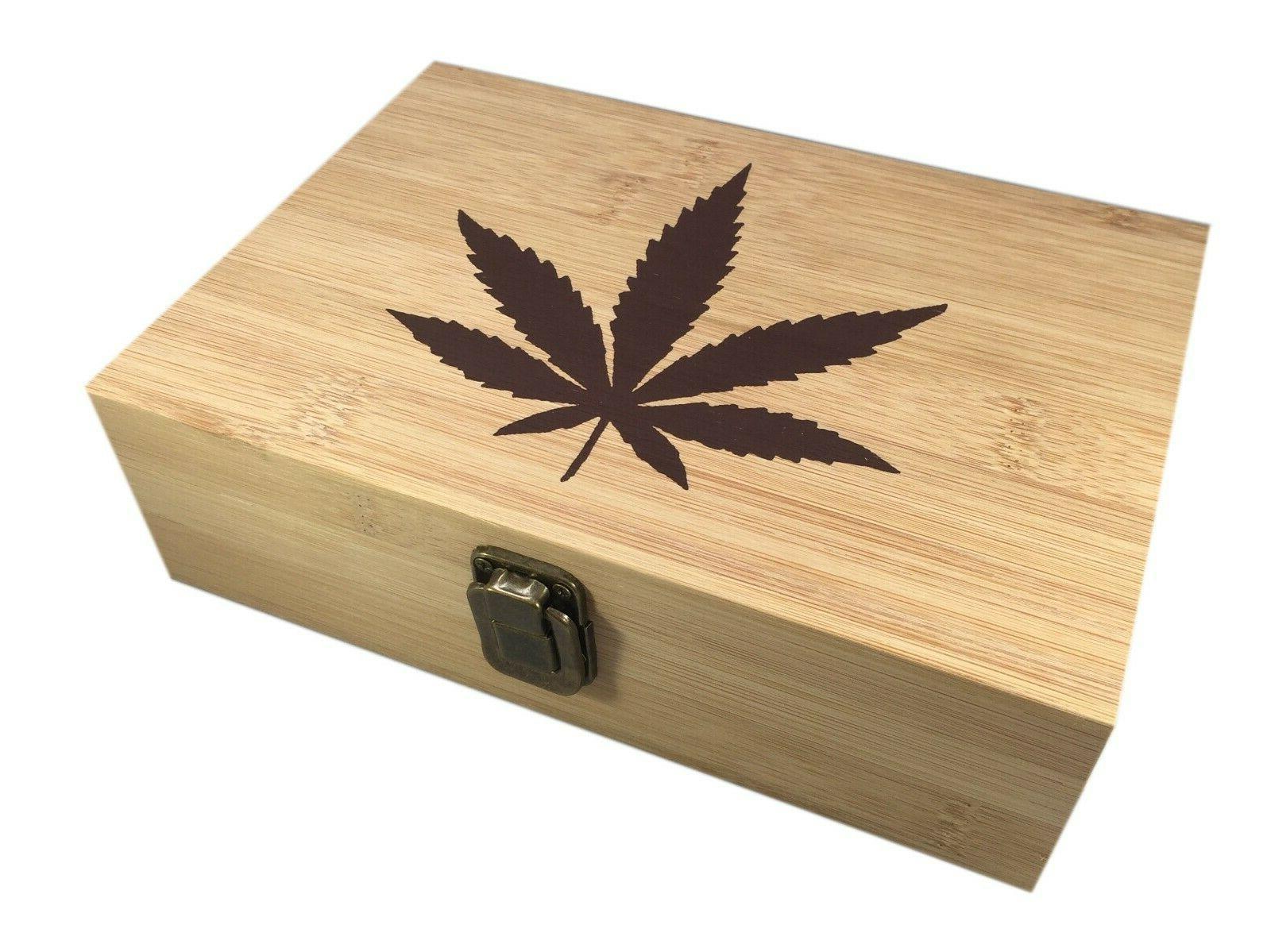 marijuana leaf decorative bamboo wood storage leaf