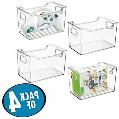 MDesign Systems Plastic Storage Holder Bin Box With Handles