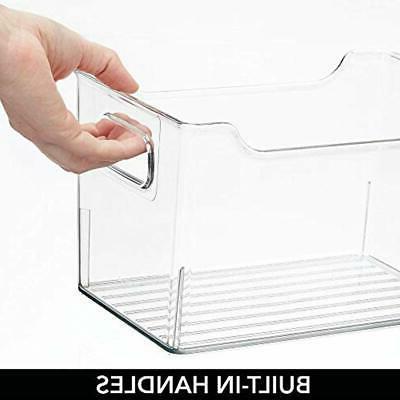 MDesign Closet Plastic Storage Box With Handles