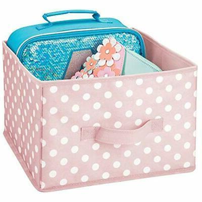 MDesign Closet Soft Fabric Holder Box Bin - 4