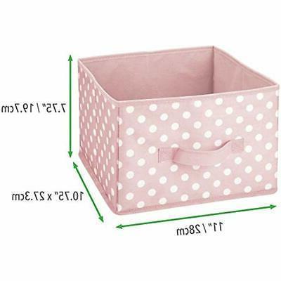 MDesign Closet Soft Fabric Organizer Box -