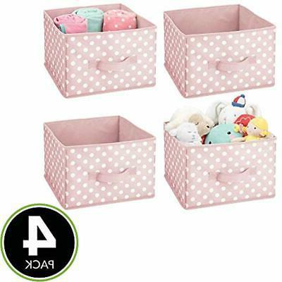 MDesign Closet Fabric Organizer Holder Box - 4
