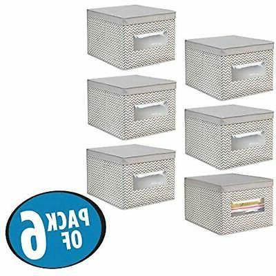 MDesign Closet Storage Organizer Holder Box Clear