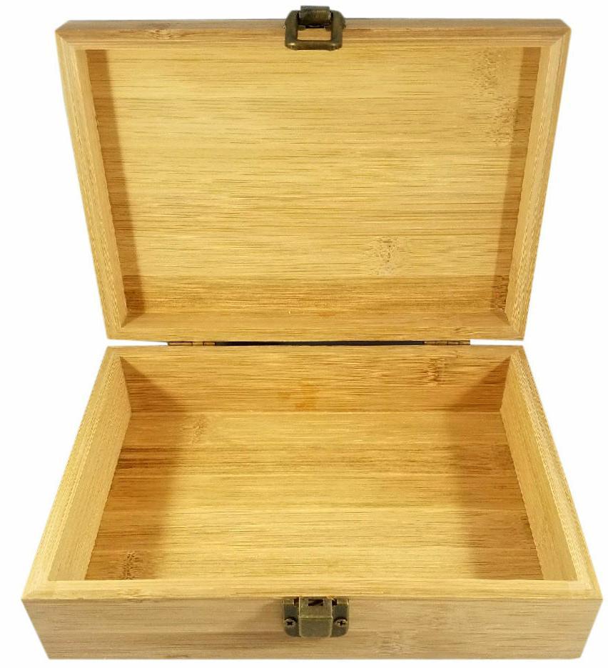 Medical Decorative Bamboo Wood Storage Stash Box Great Gift
