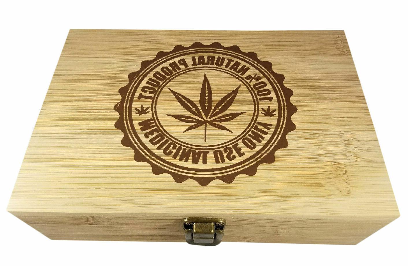 medical marijuana decorative bamboo wood storage leaf