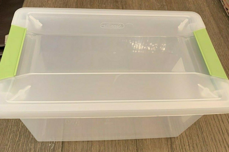 Sterilite Clip Box 1962 Plastic Clear Green