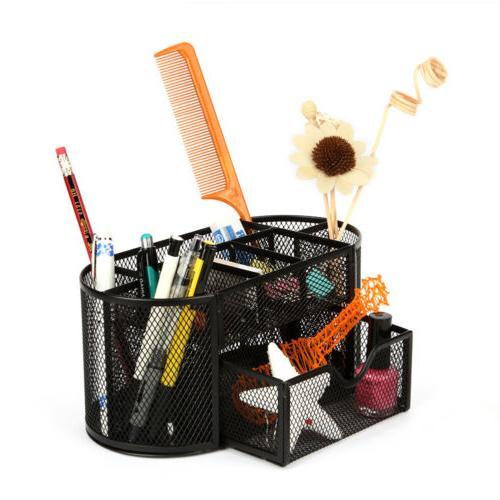 Mesh Storage Organizer Desktop Holder Pencil Pen