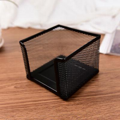Metal Storage Memo Pad Holder Black JJK