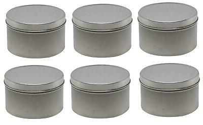"6 pack Metal Matte Tin Round Storage 3-3/16"" D x H"